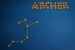 Astrology, zodiac sign stock photo
