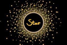 Astron de la plantilla de la bandera del marco del cepillo del confeti del brillo de la dispersión de la estrella libre illustration