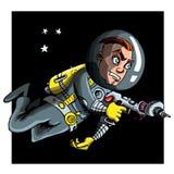 Astronaout del fumetto in un vestito di spazio Immagini Stock Libere da Diritti