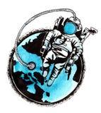 astronauci Obrazy Royalty Free