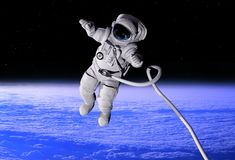 The astronaut stock illustration
