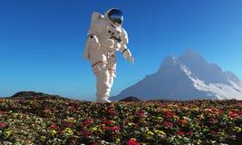astronaut royaltyfri illustrationer