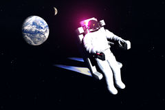Astronaut. Scene of the astronaut in space Royalty Free Stock Photo