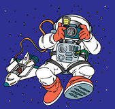 astronaut royaltyfri illustrationer