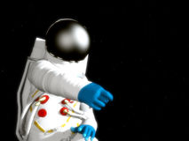 Astronaut. Floating around in the depths of space Royalty Free Stock Photo
