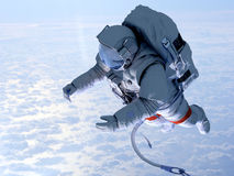 Astronaut above the clouds Royalty Free Stock Photography