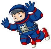An astronaut in the air Royalty Free Stock Images
