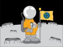 Astronaut auf dem Mond Stockfoto