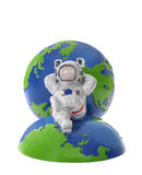 Astronaut auf Erde Lizenzfreie Stockfotografie