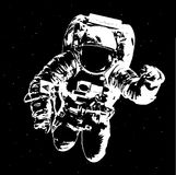 Astronaut auf Raumhintergrund - Elemente dieses Bildes geliefert von der NASA Stockfotografie