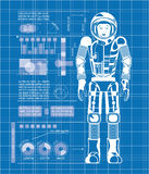 Astronaut Blue Lizenzfreies Stockfoto