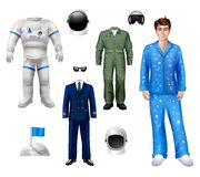 Astronaut Boy Set Royalty Free Stock Photography