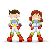 Astronaut cartoon characters Stock Image