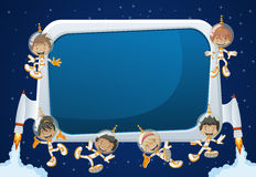 Astronaut cartoon children Royalty Free Stock Images