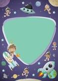 Astronaut cartoon children Stock Images