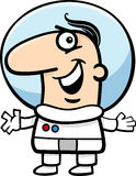 Astronaut cartoon illustration Royalty Free Stock Photo