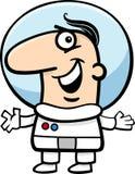 Astronaut cartoon illustration Royalty Free Stock Photo