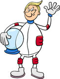 Astronaut character cartoon illustration Stock Photo