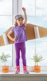 Astronaut. Child is dressed in an astronaut costume royalty free stock photo