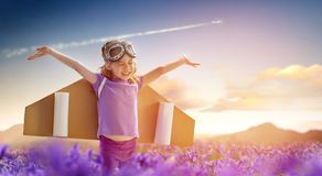 Astronaut. Child is dressed in an astronaut costume royalty free stock images