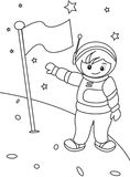 Astronaut coloring page. Useful as coloring book for kids Royalty Free Stock Photography