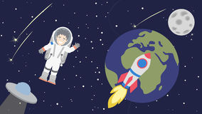 Astronaut in cosmos. Stock Photography