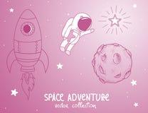 Astronaut cute adventure cosmos Royalty Free Stock Photo