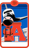 A is for Astronaut. Cute Cartoon Astronaut Alphabet Learning Illustration. An EPS file is also available royalty free illustration