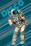 Astronaut dancing disco funny. Pop art retro comic book vector cartoon hand drawn illustration Stock Image