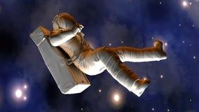 Astronaut, der in Platz schwimmt Lizenzfreies Stockbild