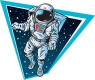 Astronaut, der in Platz schwimmt Stockbild