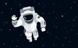 Astronaut in der Weltraumkonzeptvektorillustration im flachen Schweinestall Lizenzfreie Stockfotos