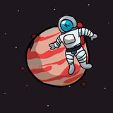 Astronaut design. Over space background, vector illustration Royalty Free Stock Images