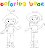 Astronaut and diver coloring book Stock Images