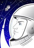 Affiche met astronaut Royalty-vrije Stock Foto's