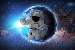 Astronaut Elementen van dit die beeld door NASA wordt geleverd royalty-vrije illustratie
