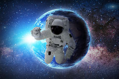 Astronaut. Elements of this image furnished by NASA. Stock Images