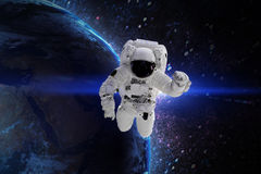 Astronaut. Elements of this image furnished by NASA. Stock Image