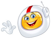 Astronaut emoticon Stock Image
