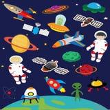 Astronaut en Ruimteinvaller Royalty-vrije Stock Fotografie