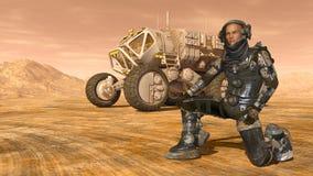 Astronaut en ruimtezwerver Royalty-vrije Stock Foto's