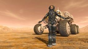 Astronaut en ruimtezwerver Royalty-vrije Stock Afbeeldingen