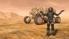 Astronaut en ruimtezwerver Royalty-vrije Stock Foto