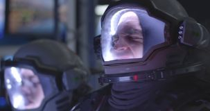 Astronaut experiencing pain during rocket launch