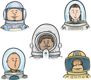 Astronaut Faces Stock Photo