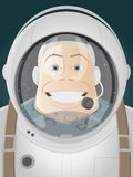 Astronaut facing the moon Royalty Free Stock Photo