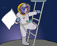 Astronaut flag royalty free stock images