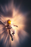Astronaut floating in the atmosphere Royalty Free Stock Photography
