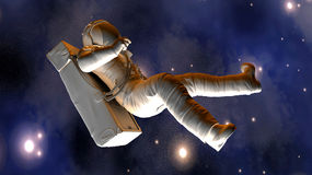 Astronaut floating in Space Royalty Free Stock Image