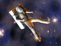 Astronaut floating in Space Royalty Free Stock Images